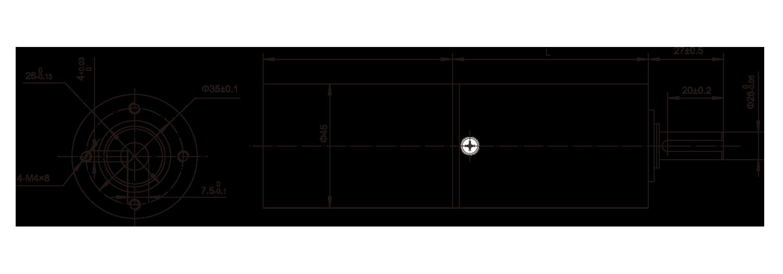 DC-Motor_45JXF4567_Outline-drawing